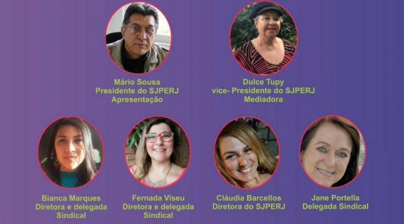Debate com as jornalistas do Sindicato dos Jornalistas do Estado do Rio de Janeiro