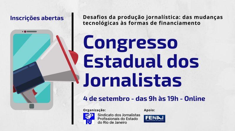 Congresso Estadual de Jornalistas será neste sábado; participe! inscreva-se aqui!